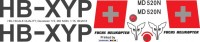 HB-XYP - MD 520N -  Fuchs Helikopter - Decal 172